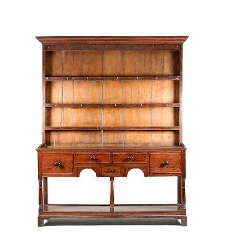 An early 19th Century oak high dresser, Cardiganshire, Welsh