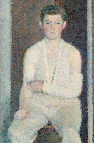 Vladimir Weisberg (Russian, 1924-1985) 'Portrait of Guinsberg in a plaster-cast'