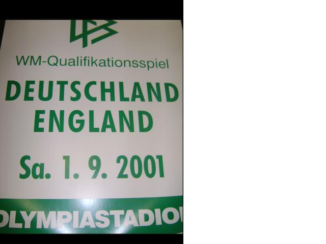 2001 World Cup qualifier Germany v England match posters