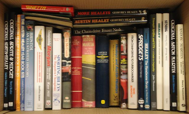 A good quantity of books relating to British sports car manufacturers,