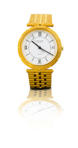 Van Cleef & Arpels. A fine 18ct gold wristwatch with calendarRef: 17103, Case No.36233, Circa 1980s