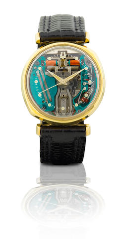 Bulova.  A rare 14ct gold tuning fork wristwatch Accutron, Ref: M4, Case No. B28360, Circa 1960s