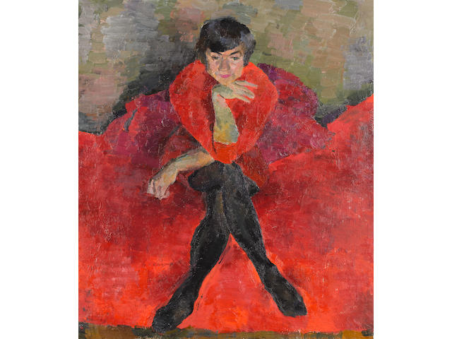 (n/a) Erik Bulatov (Russian, born 1933) Portrait of Olga Andreeva