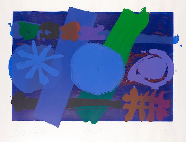 Albert Irvin RA (British, born 1922) Star III Screenprint, 1993, printed in colours, on wove, signed, dated, titled and numbered 93/125 in pencil (Image)