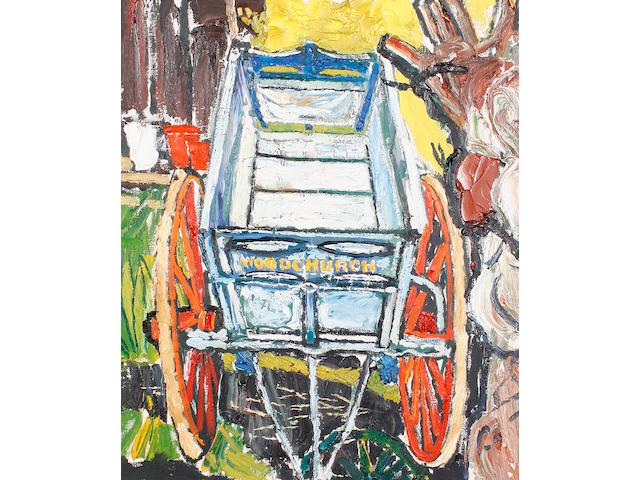 John Bratby R.A. (British, 1928-1992) The baker's cart