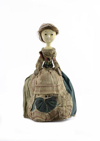George II wooden doll, English circa 1740