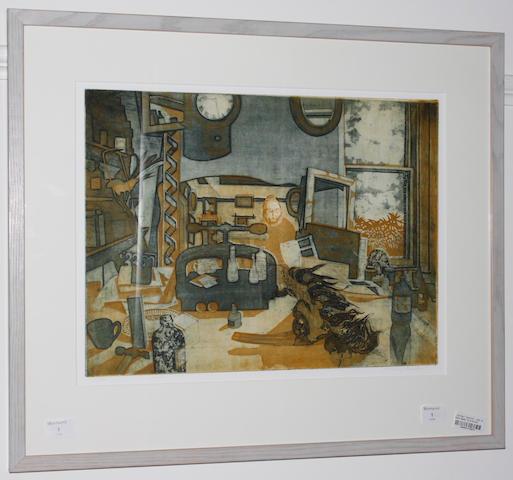 """Richard Bawden (British, 1936) """"Clutter"""""""