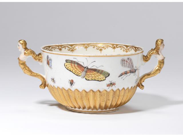 A rare Capodimonte two-handled bowl Circa 1750