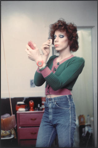 Nan Goldin (American, born 1953) Kenny putting on make-up, Boston, 1973