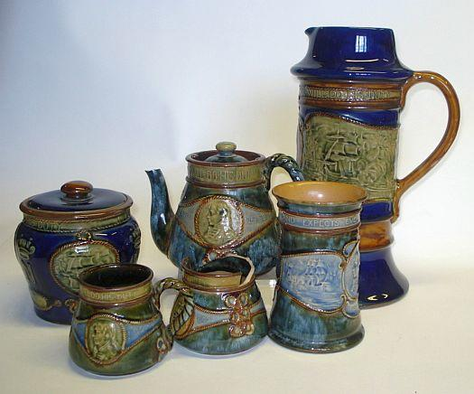 Lambeth A collection of Doulton Lambeth commemorative ware, Late 19th/early 20th Century
