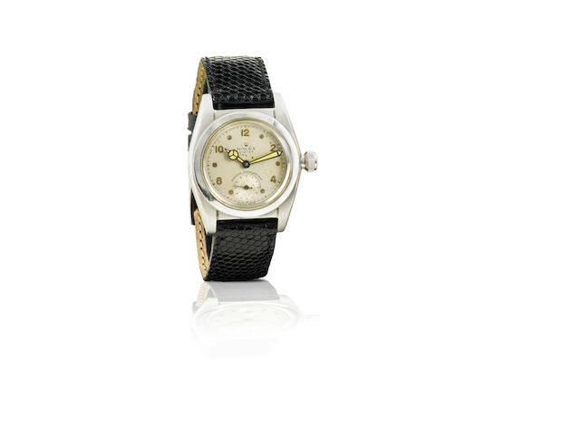 Rolex.  A fine stainless steel manual wind wristwatchOyster.  Case No.78038, Circa 1930s