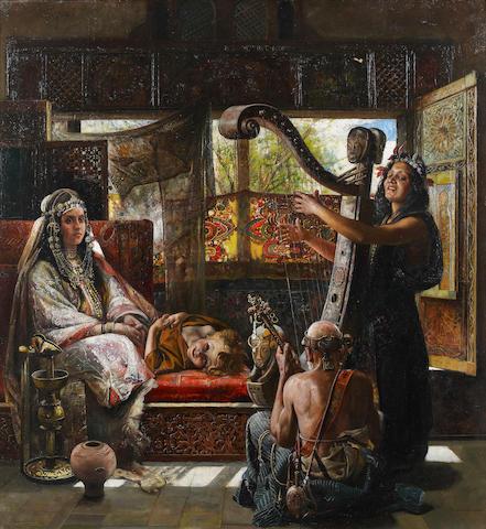 (n/a) Gyula Tornai (Hungarian, 1861-1928) The sound of the harp