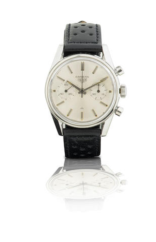 Heuer.  A fine and rare stainless steel manual wind chronograph wristwatch  Carrera, Ref: 74606, Circa 1960s