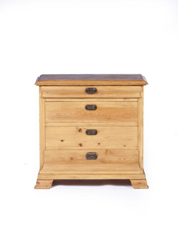 A late 19th century North European stripped pine commode