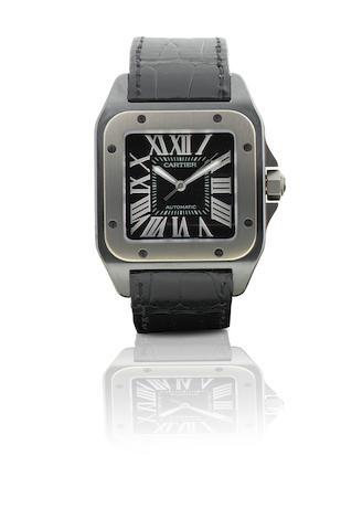 Cartier. A fine titanium automatic wristwatch Santos 100. Ref: W2020010, Case No. 181486PX, Circa 2009