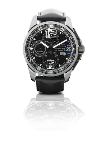 Chopard. A very fine and very rare stainless steel automatic split-second chronograph limited edition wristwatch Mille Miglia Gran Turismo XL Chrono Speed Black 3, Ref: 168459-3008, Case No. 1383027, Circa 2008