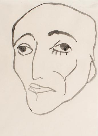 Henri Gaudier-Brzeska (French 1891-1915) Head of a man 25 x 18.5 cm. (9 3/4 x 7 1/4 in.)