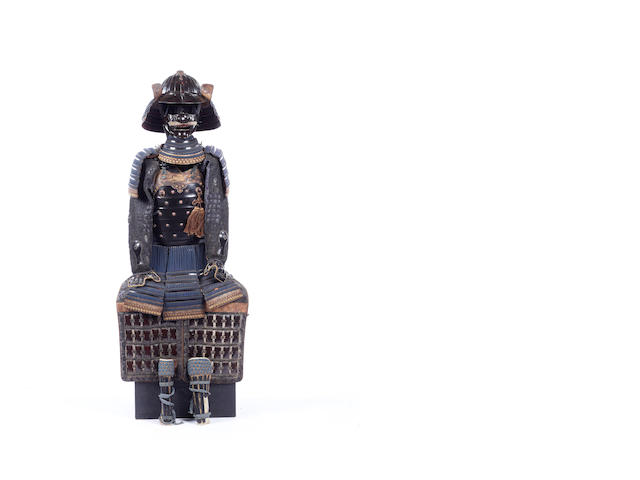 A Japanese black-lacquer armor with a okegawa do 19th century
