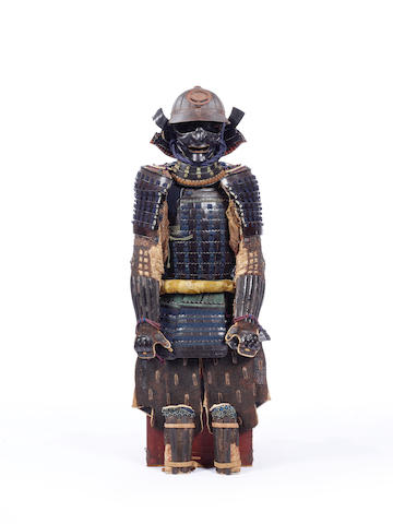 A Japanese black-lacquer armor with a nuinou do 18th-19th century
