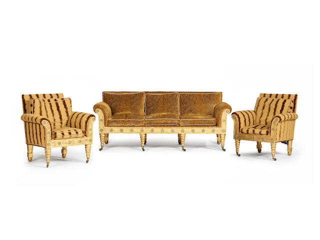 A good late Regency giltwood salon suite