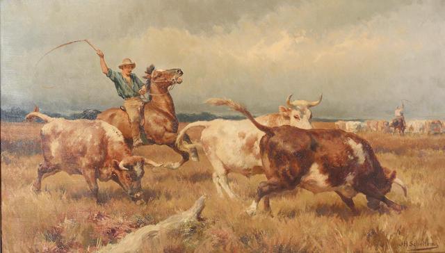 Jan Hendrik Scheltema (Australian, 1861-1938) Calling Out