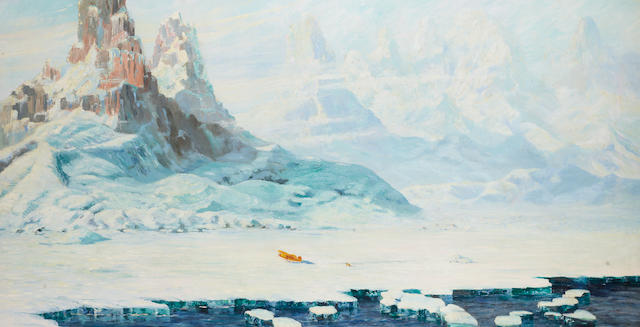 William Francis (Will) Longstaff (Australian, 1879-1953) Wilkins at the Arctic