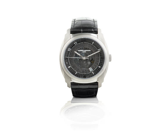 Vacheron Constantin. A fine and rare titanium automatic wristwatch Quai de Ille Date, Ref: 86050/000T-9343, Case No. 1111393, Circa 2008