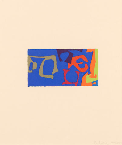 Patrick Heron (British, 1920-1999) Abstract Compostion from Shapes and Colours screenprint in colours, 1978, signed in pencil, from the edition of 50, printed in 1978 by Kelpra Studio, published by Kelpra Editions, Waddington & Tooths Graphics, on wove paper, with full margins, 85 x 162mm(3 1/2 x 6 1/4in)(I)