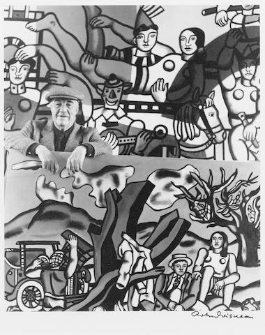 Robert Doisneau (French, 1912-1994) Fernand Leger in his atelier, Gif-sur-Yvette, 1954 Paper 30 x 24cm (11 13/16 x 9 7/16in), image 24.3 x 20.6xm (9 1/2 x 8 1/8in).