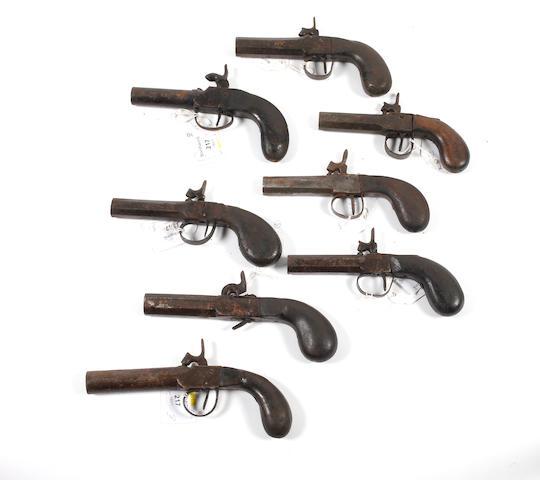 Eight Percussion Pocket Pistols