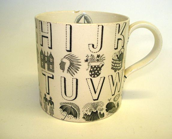 Eric Ravillious for Wedgwood, an 'Alphabet' mug
