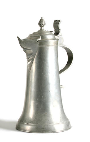 A large 18th Century Swiss spouted flagon
