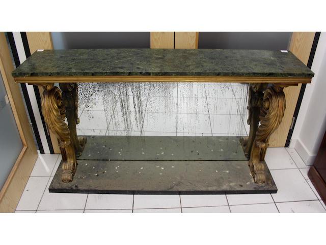 A Rococo style console table