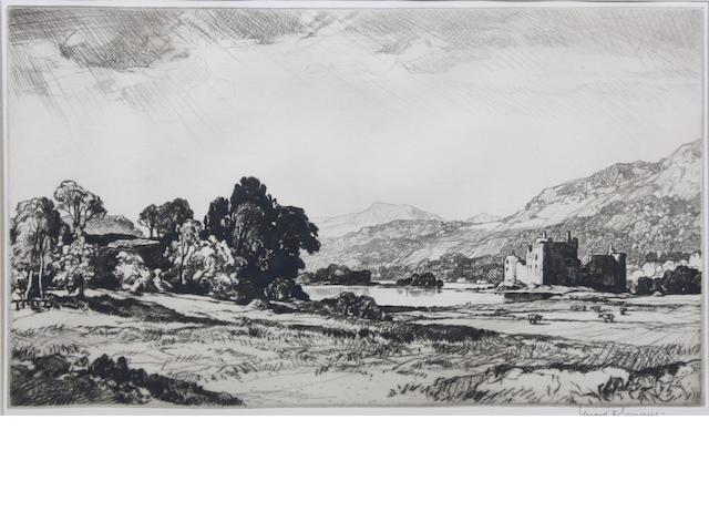 Leonard Russell Squirrell, R.W.S., R.I., R.E. (British, 1893-1979) Pl. 23.5 x 35cm (largest). (2)