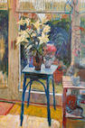 William Bowyer (British, born 1926) Flowers and plants in an interior