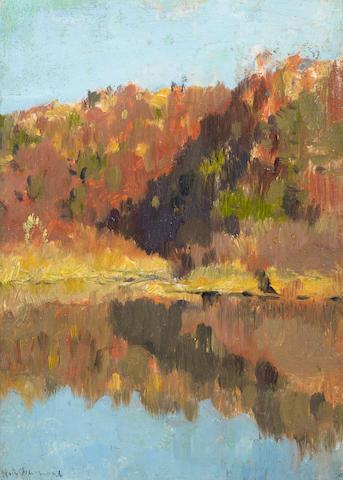 Isaak Ilych Levitan (Russian, 1860-1900) Autumnal landscape