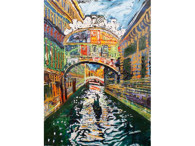 John Bratby R.A. (British, 1928-1992) Bridge of Sighs, Venice