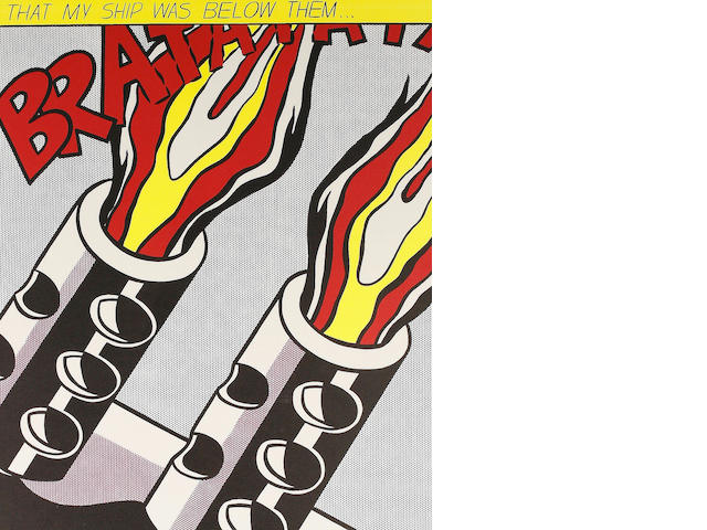 Roy Lichtenstein (American, 1923-1997) As I Opened Fire The set of three offset lithographs printed in colours, conceived 1966, on wove, from the edition of an unknown size, with full margins, 647 x 535mm (25 1/2 x 21 1/5in)(SH) 3 unframed