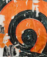 "Mimmo Rotella "" L'aspirale "" cm 28 x 22 collage on Board"