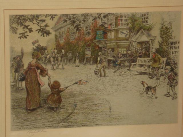 Cecil Charles Windsor Aldin, RBA (British, 1870-1935) The Anchor Inn,