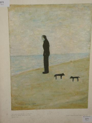 Laurence Stephen Lowry, R.A. (British, 1887-1976) 'Man Looking out to Sea',