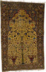 A silk Feraghan prayer rug West Persia, circa 1880, 218 x 142cm. (81 7/8 x 56in.)
