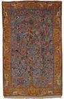 A silk Kashan rug, Central Persia, circa 1920, 205 x 130cm. (80 3/4 x 50 1/4in.)