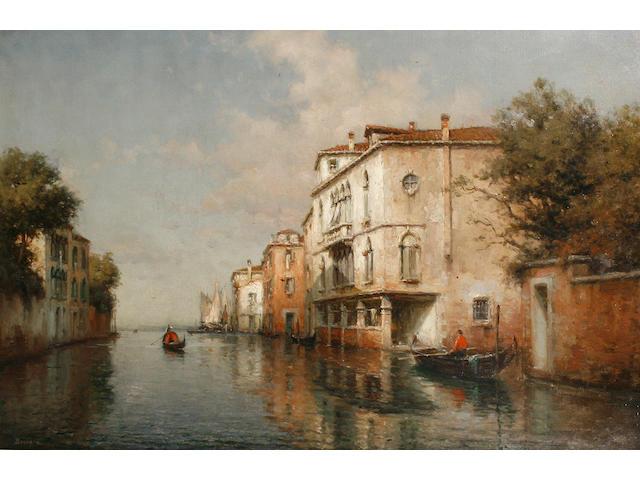 Antoine Bouvard (French, 1870-1956) A Venetian canal