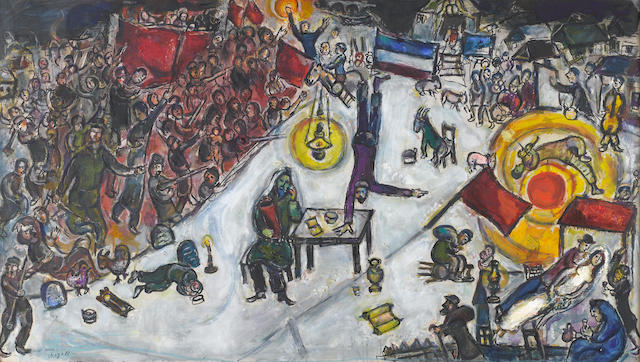 Marc Chagall (Russian/French, 1887-1985) La Révolution