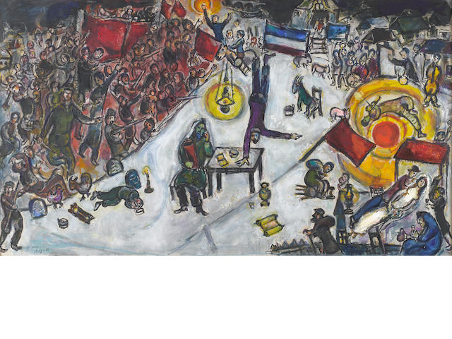 Marc Chagall (Russian/French, 1887-1985) la Revolution