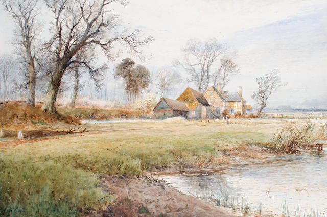 Arthur Willett (British, 1857-1918) Springtime near Fletching, Sussex