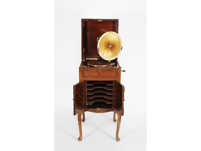 A HMV Luminiere cabinet grand gramophone