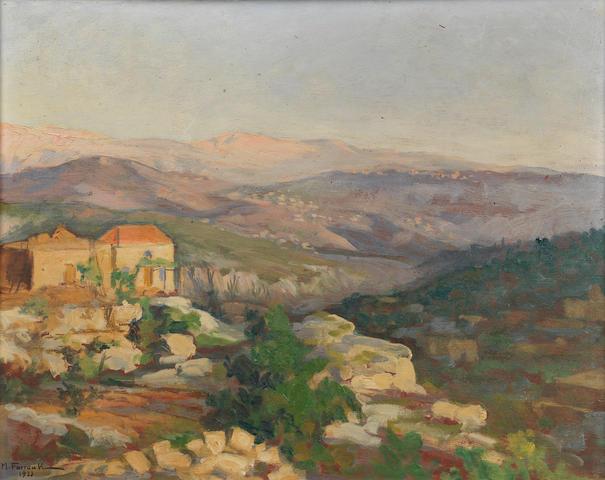 Moustafa Farroukh (Lebanon, 1901-1957) Vue de Village Faitroun,