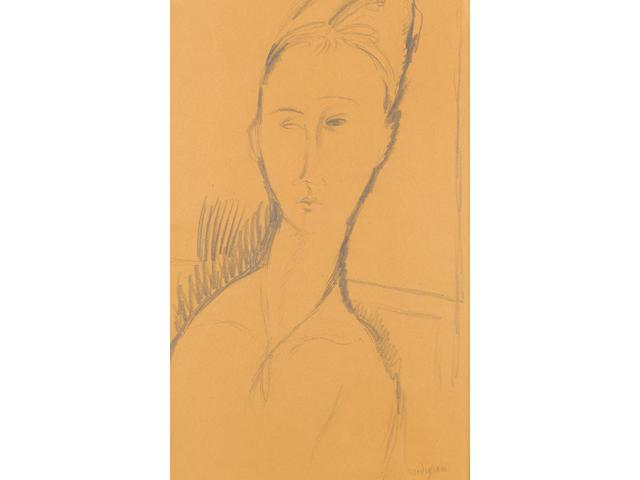 Amedeo Modigliani (Italian, 1884-1920), Modigliani Portrait de femme